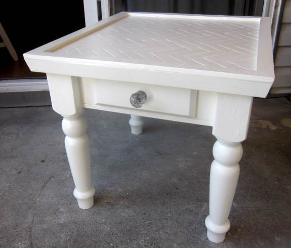 23. Clean up table once it's dry or cured; wipe down with a damp tack cloth