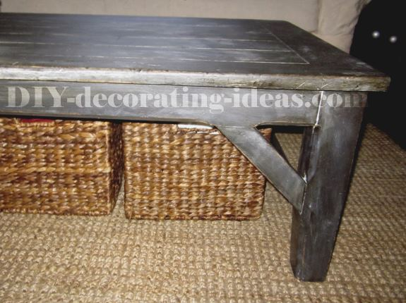 Black Faux Wax Coffee Table