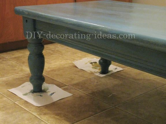 Distressed Aqua Coffee Table