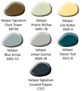 Distressed Aqua Coffee Table Custom Color Palette