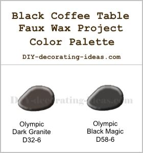 Black Faux Wax Coffee Table Custom Color Palette