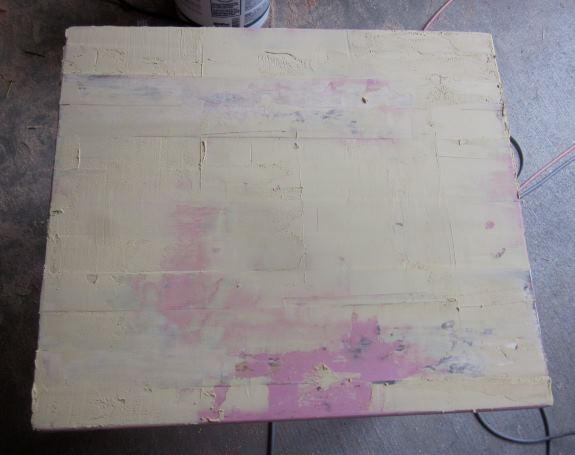 4. Wait for table top to dry