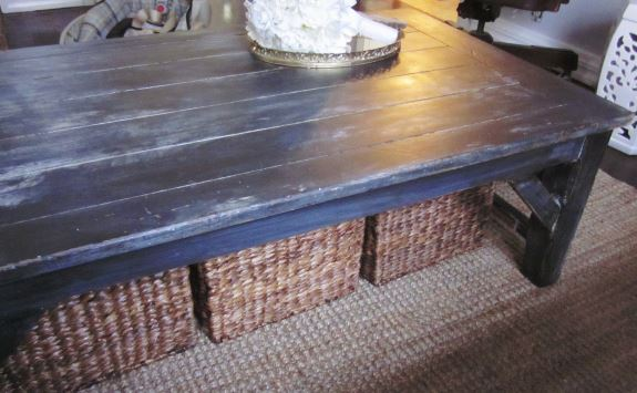 Black Faux Wax Coffee Table Project